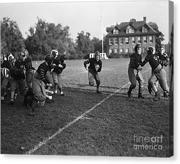 School Football Team, C.1930s Canvas Print