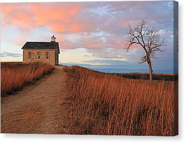 School House Road Canvas Print by Christopher McKenzie