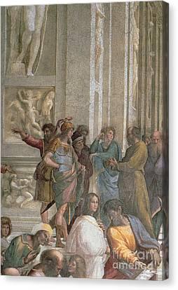 School Of Athens, From The Stanza Della Segnatura Canvas Print by Raphael