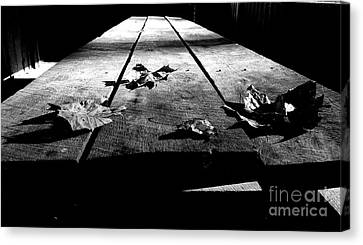 Schooled In Thought - Black And White Canvas Print