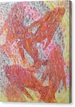 Canvas Print featuring the painting Schooled by Michele Myers