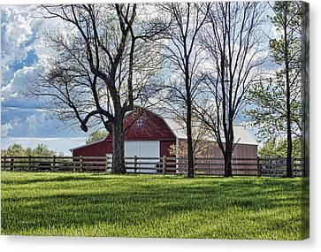 Canvas Print featuring the photograph Schooler Road Barn by Cricket Hackmann