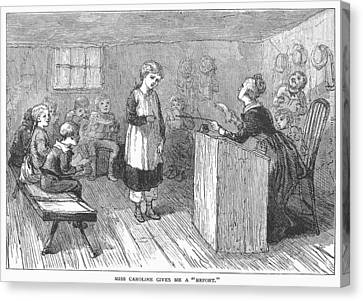 Schoolhouse, 1877 Canvas Print by Granger