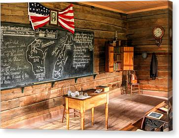 Schoolhouse Classroom At Old World Wisconsin Canvas Print by Christopher Arndt