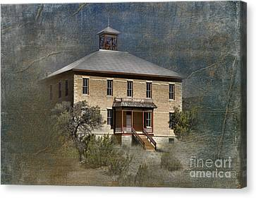 Schoolhouse Days Canvas Print by Sandra Bronstein