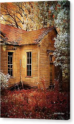 Schoolhouse In The Spring Canvas Print by Julie Dant
