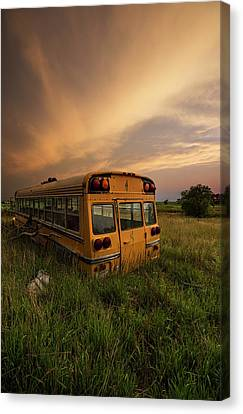 School Bus Canvas Print - School's Out  by Aaron J Groen