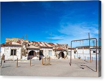Schoolyard Canvas Print - Schoolyard In Abandoned Town by Jess Kraft