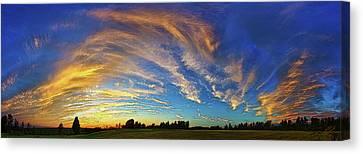 Schoolyard Sunset 1 Canvas Print