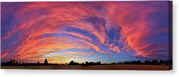 Abeautifulsky Canvas Print - Schoolyard Sunset 2 Cloudscape by ABeautifulSky Photography by Bill Caldwell