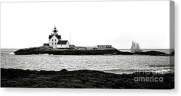 Schooner At Cuckolds Light Canvas Print