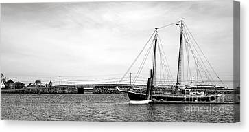 Schooner At The Cribstone Bridge Canvas Print