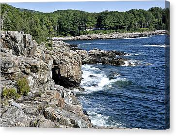 Rocky Maine Coast Canvas Print - Schooner Head Coast - Acadia National Park Maine by Brendan Reals