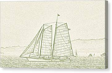 Schooner On New York Harbor No. 3-2 Canvas Print