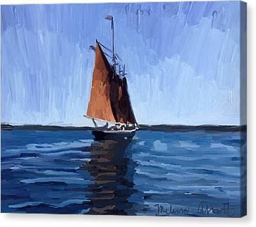 Schooner Roseway In Gloucester Harbor Canvas Print