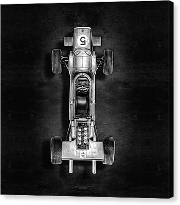 Canvas Print featuring the photograph Schuco Matra Ford Top Bw by YoPedro