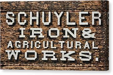 Schuyler Iron - Watkins Glen Canvas Print by Stephen Stookey