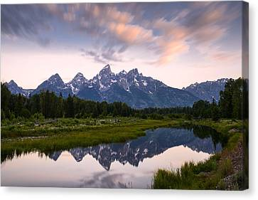 Canvas Print featuring the photograph Schwabacher Landing In 60 Seconds by Dan Mihai