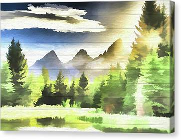 Schwabachers Landing Sunlight Canvas Print