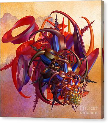 Fractal Orbs Canvas Print - Sci-fi Insect by Gaspar Avila