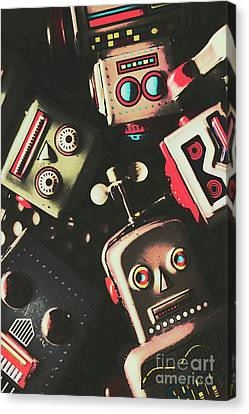 Science Fiction Robotic Faces Canvas Print by Jorgo Photography - Wall Art Gallery