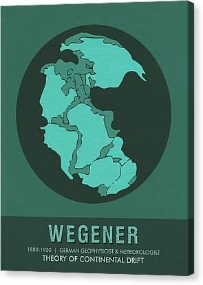 Science Posters - Alfred Wegener - Geophysicist, Meteorologist Canvas Print