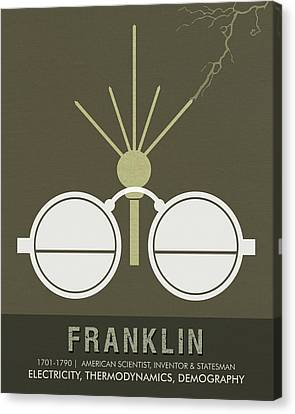 Science Posters - Benjamin Franklin - Scientist, Inventor, Statesman Canvas Print