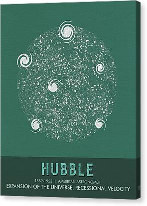 Science Posters - Edwin Hubble - Astronomer Canvas Print