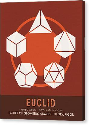 Science Posters - Euclid - Mathematician Canvas Print