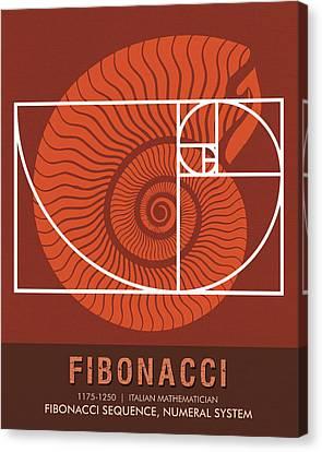 Science Posters - Fibonacci - Mathematician Canvas Print