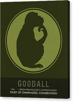 Science Posters - Jane Goodall - Anthropologist, Primatologist Canvas Print