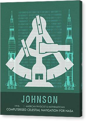 Science Posters - Katherine Johnson - Mathematician, Physicist Canvas Print