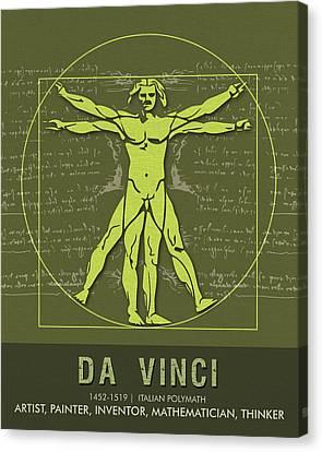 Painter Canvas Print - Science Posters - Leonardo Da Vinci - Artist, Inventor, Mathematician by Studio Grafiikka