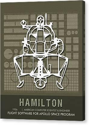Science Posters - Margaret Hamilton, Computer Scientist, Engineer Canvas Print