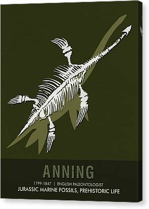 Science Posters - Mary Anning - Paleontologist Canvas Print