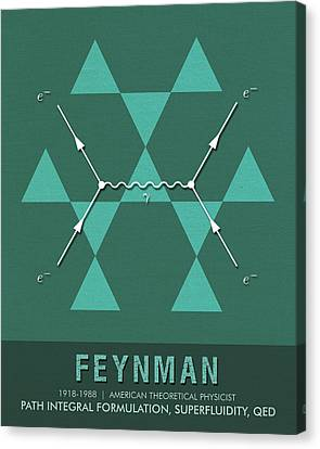 Science Posters - Richard Feynman - Theoretical Physicist Canvas Print