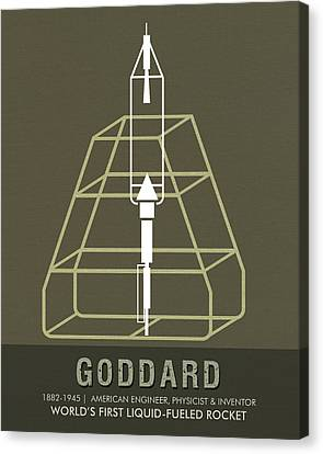 Science Posters - Robert.h.goddard - Engineer, Physicist, Inventor Canvas Print