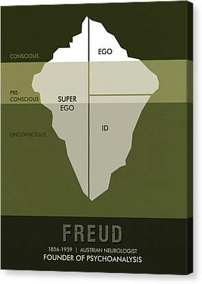 Science Posters - Sigmund Freud - Neurologist, Psychoanalyst Canvas Print