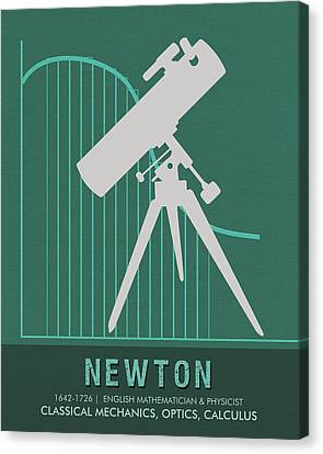 Science Posters - Sir Isaac Newton - Physicist, Mathematician, Astronomer Canvas Print