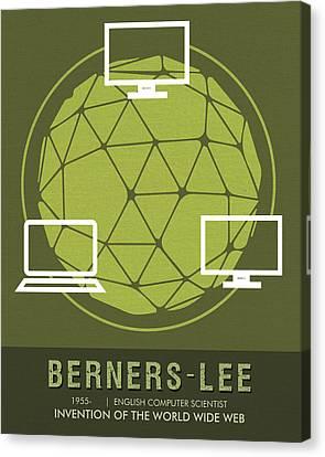 Tim Canvas Print - Science Posters - Tim Berners-lee - Computer Scientist by Studio Grafiikka - Sreejith V
