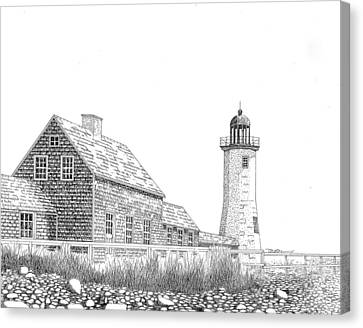 Scituate Lighthouse Canvas Print by Tim Murray