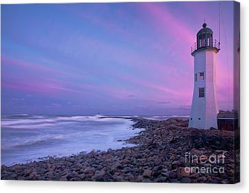 Scituate Sunset  Canvas Print by Susan Cole Kelly