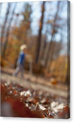 Canvas Print featuring the photograph Scootering At The Park by Greg Collins