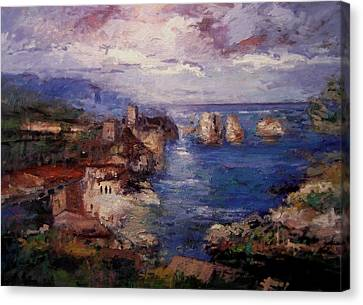 Scopello In Sicily Iv Canvas Print by R W Goetting