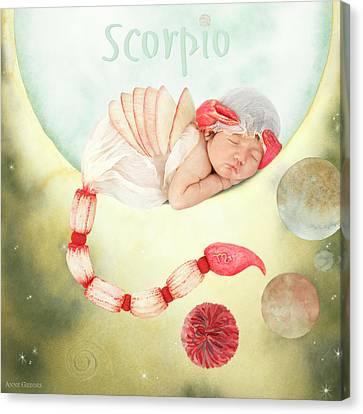 Scorpio Canvas Print by Anne Geddes