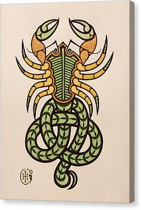 Scorpio Canvas Print by Ian Herriott