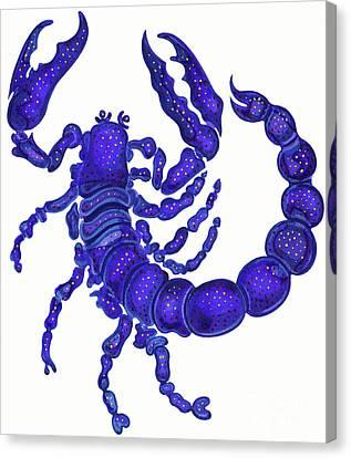 Scorpio Canvas Print by Jane Tattersfield