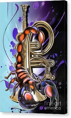 Scorpio Canvas Print by Melanie D