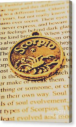 Scorpio Star Sign Token Canvas Print by Jorgo Photography - Wall Art Gallery