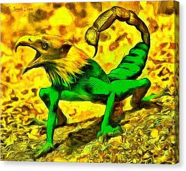 Scorpionfrogbird - Da Canvas Print by Leonardo Digenio